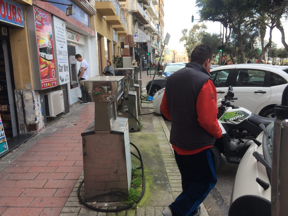 In Sliema, Malta what I think is the world's smallest petrol station