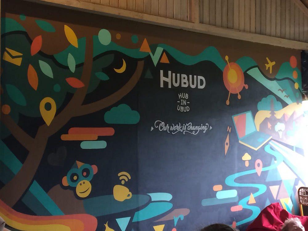 The wall at Hubud