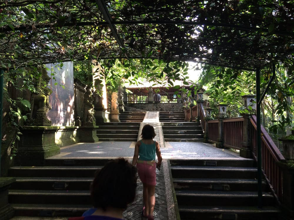 The stairs at the entrance to Bali Zoo