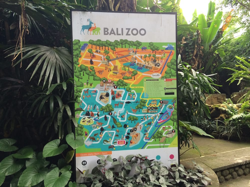 Map of the Bali Zoo