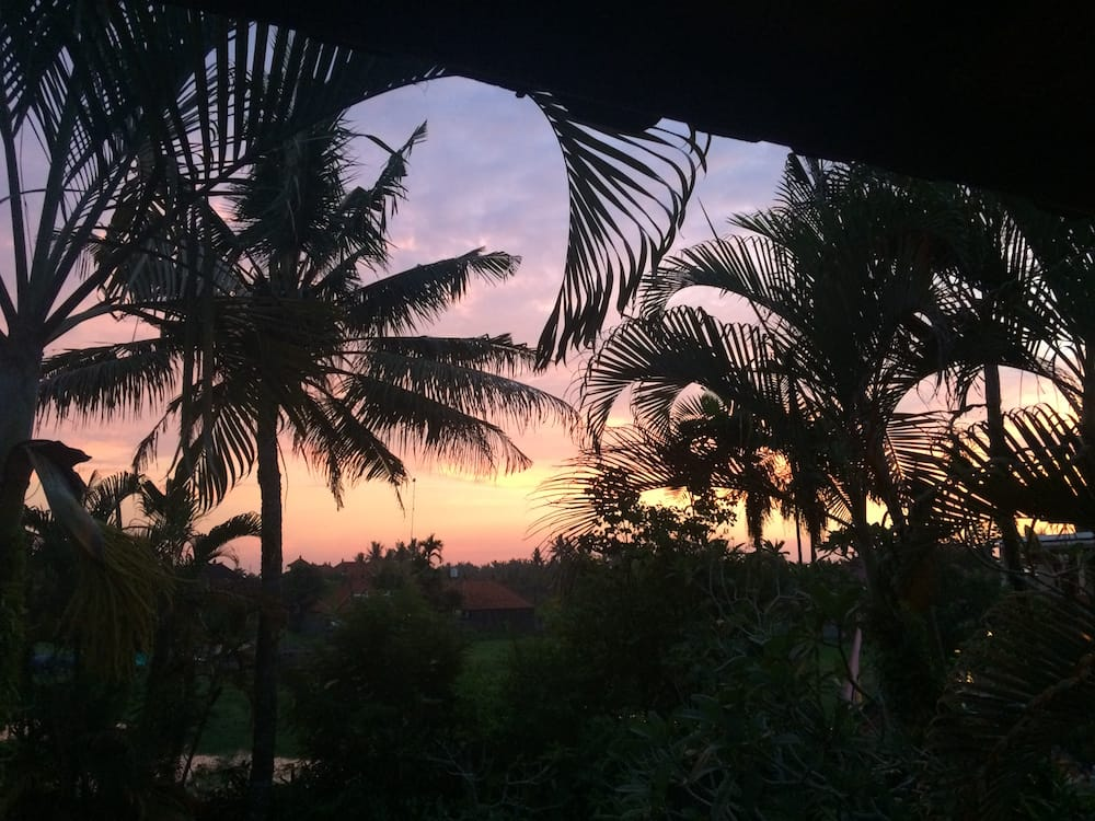 Sunset on Nyepi from the first floor balcony