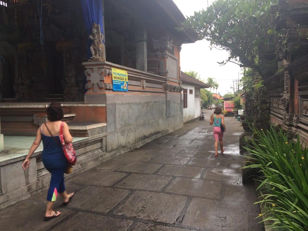 Walking home from some time in Ubud